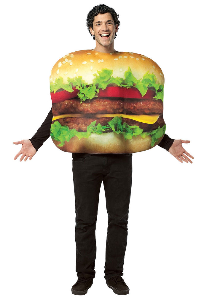 Get Real Cheeseburger Costume, Food Fancy Dress