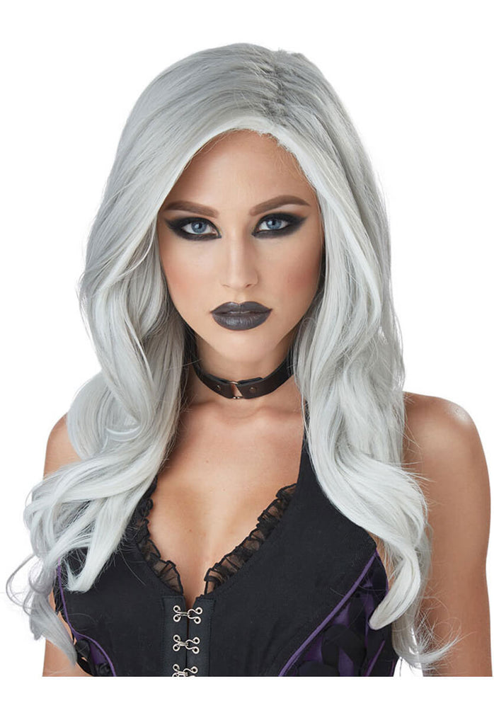 Fatal Beauty Wig, Grey & White