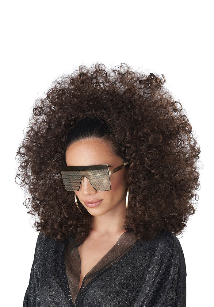 3/4 Curly Fall Wig - Brunette
