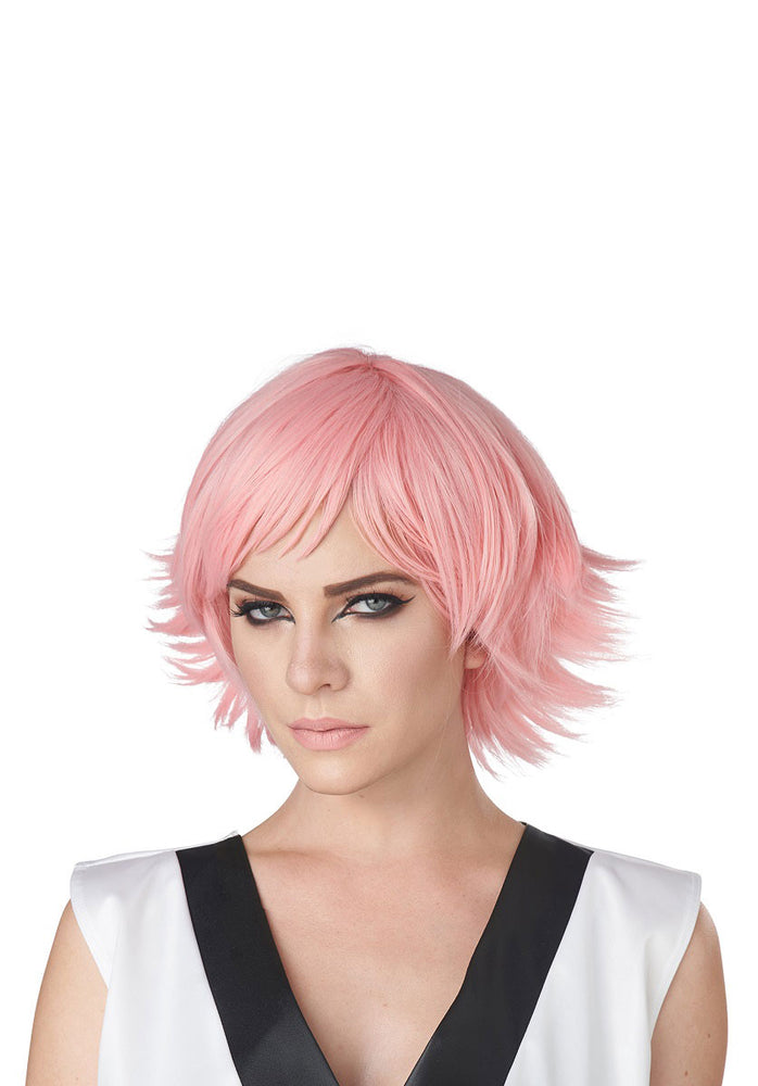 Feathered Cosplay Rose Pink Wig