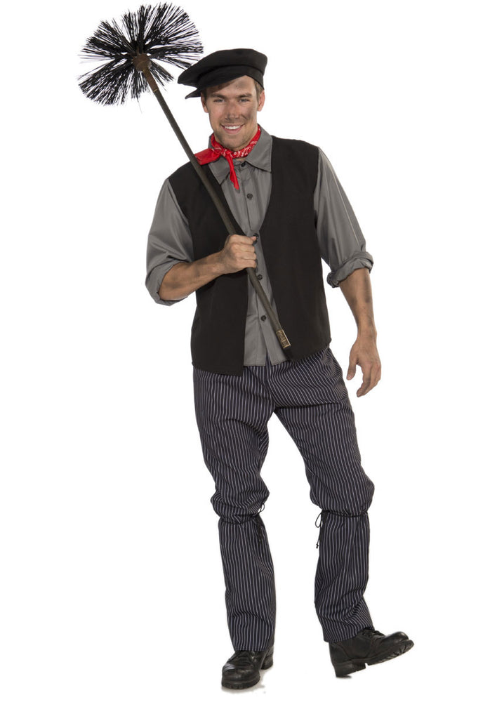 Adult Male Chimney Sweep Fancy Dress Costume