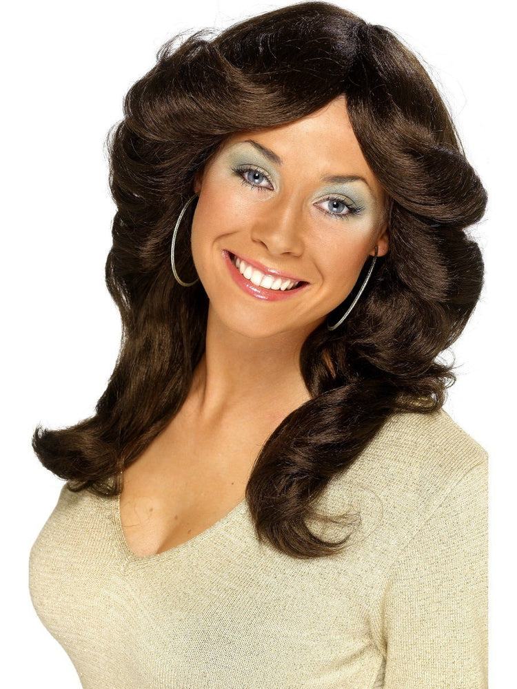 70s Flick Wig - Brown