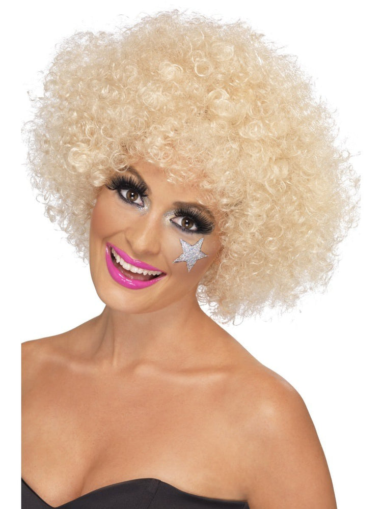 70s Funky Afro Wig, Blonde