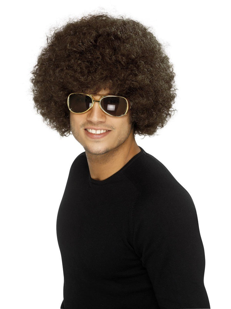 Afro Wig - Economy, Brown