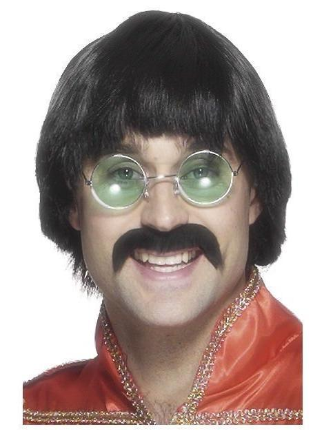 Men's 70's Short Mersey Wig and Tash