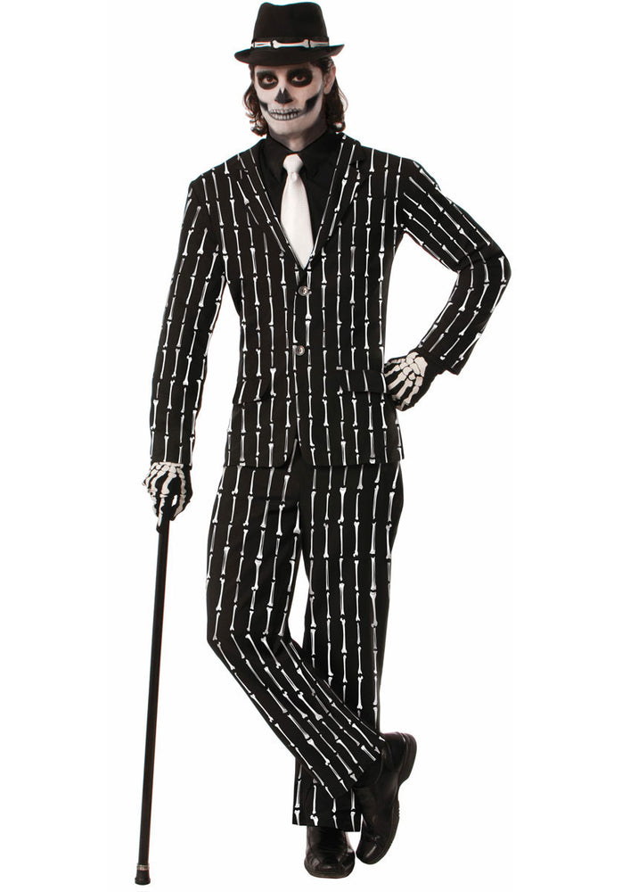 Adult Bone Pinstriped Suit Costume