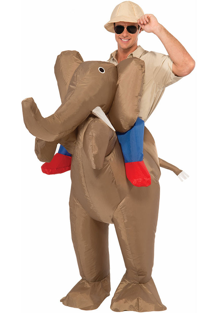 Funny Adult Novelty Fancy Dress Inflatable Elephant Costume