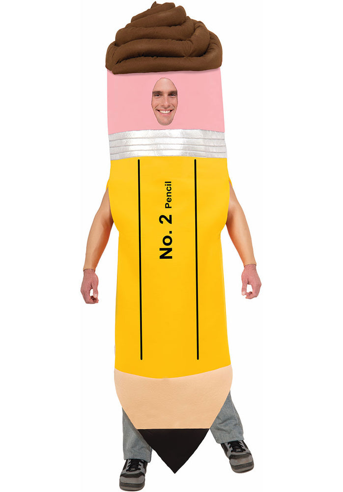 No.2 Giant Sized Yellow Pencil Costume for Adults