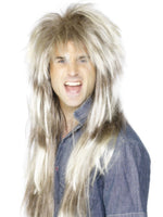 80s Mega Mullet Wig, Blonde/Brown
