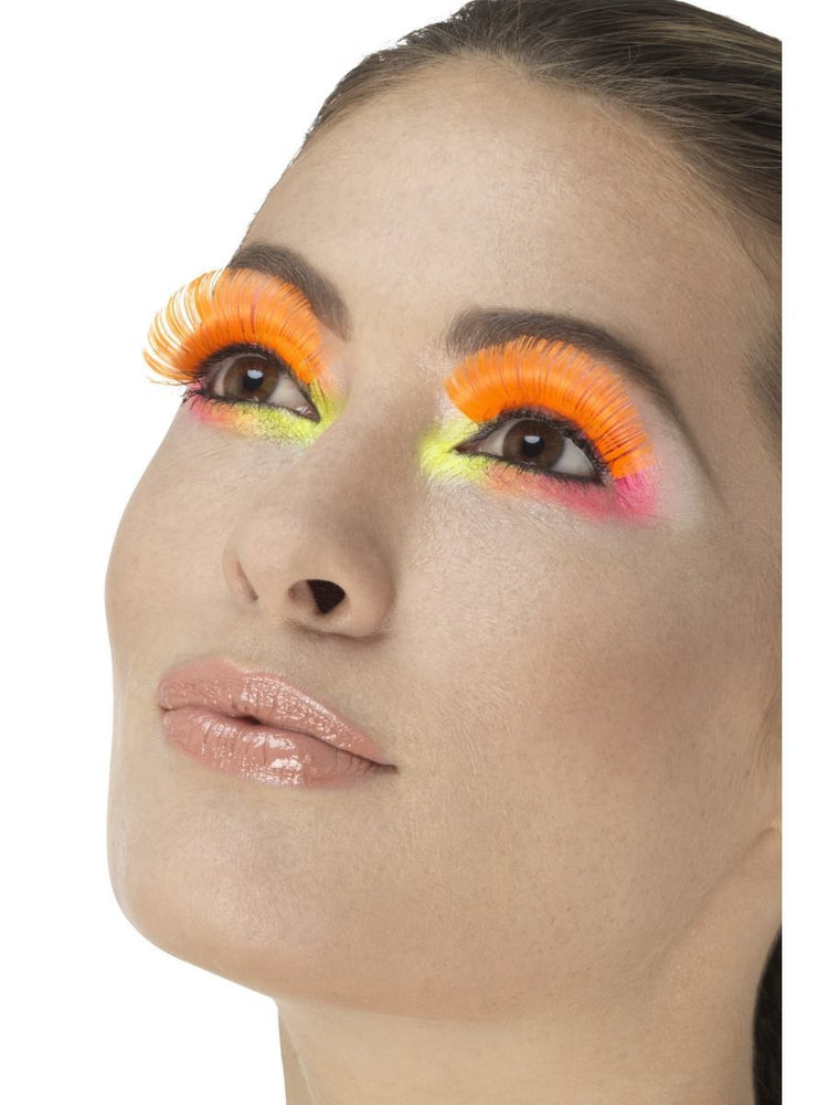 80s Party Eyelashes, Neon Orange