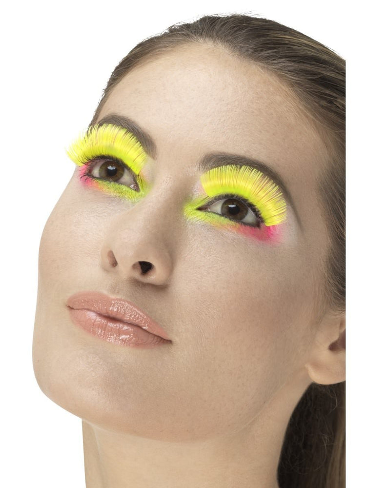 80s Party Eyelashes, Neon Yellow
