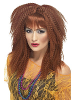 80s Crimp Wig Brown