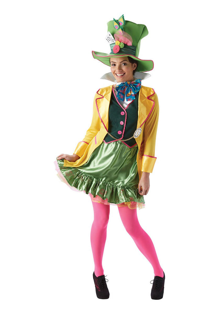 The Mad Hatter Ladies Fancy Dress Costume Halloween