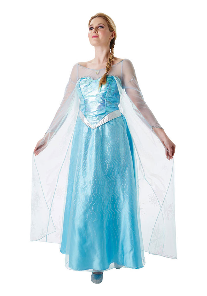 Official Ladies Disney Princess Queen Elsa Adult Fancy Dress