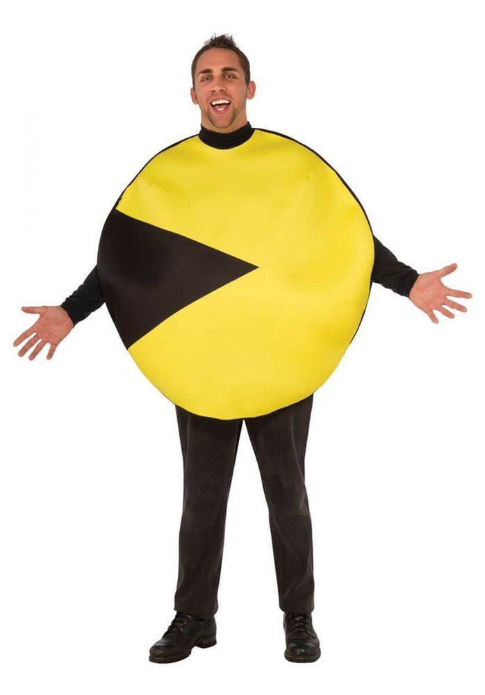 80's Classic Pacman Yellow Black Design Child Costume