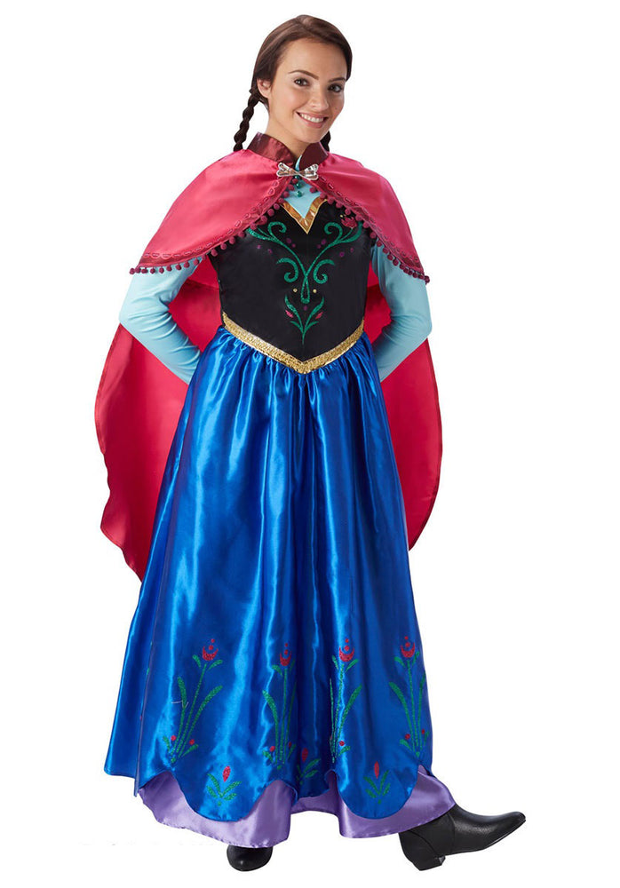 Frozen's Princess Anna Travelling Costume Ladies Fancy Dress