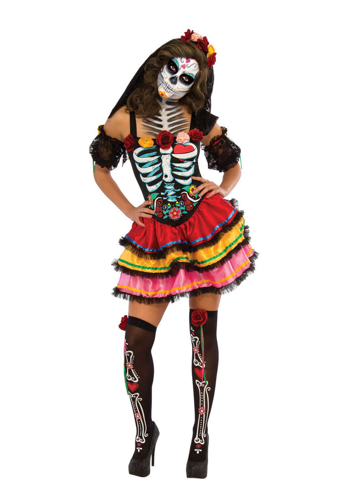Adult Day of the Dead Senorita Tutu Dress