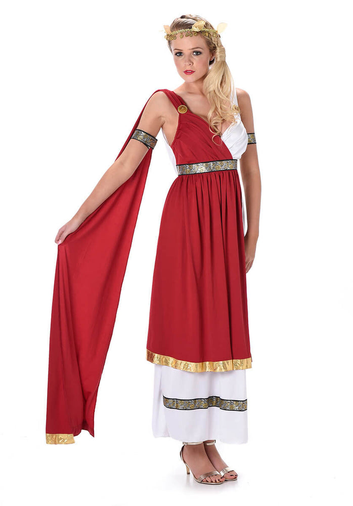 Roman Empress Costume with Red Shawl