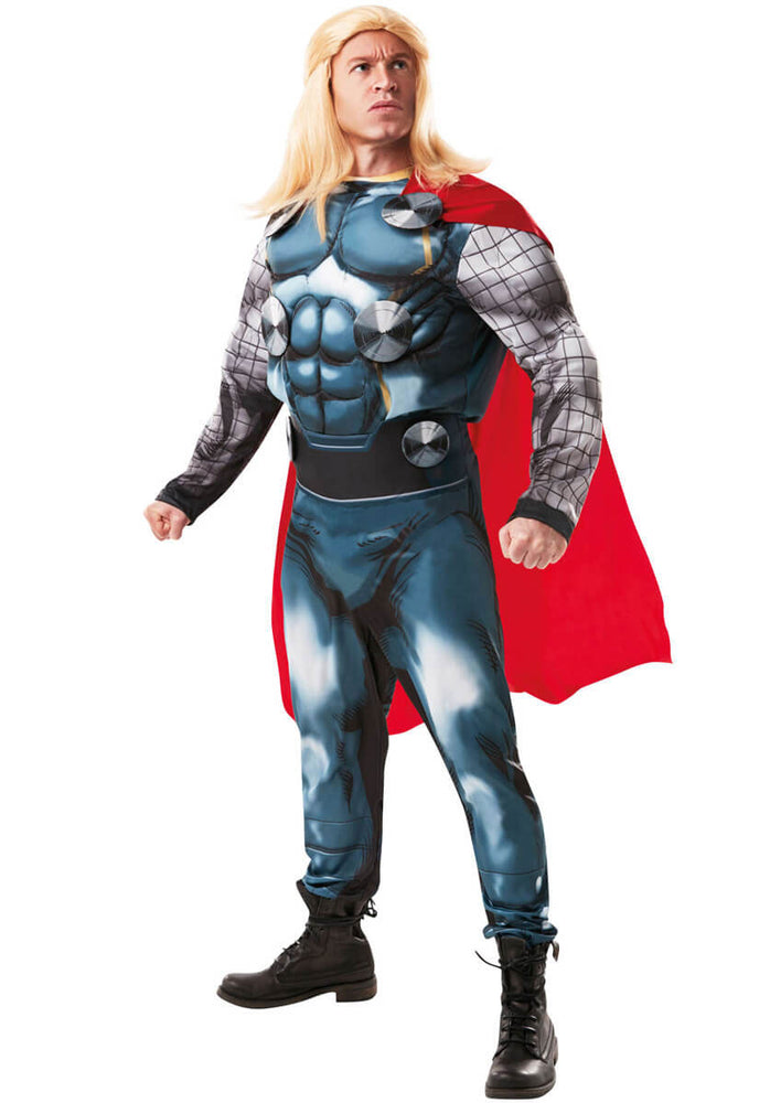 Official Thor Mens Deluxe Fancy Dress Costume
