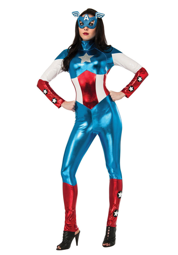 American Dream Costume, Female Captain America Fancy Dress