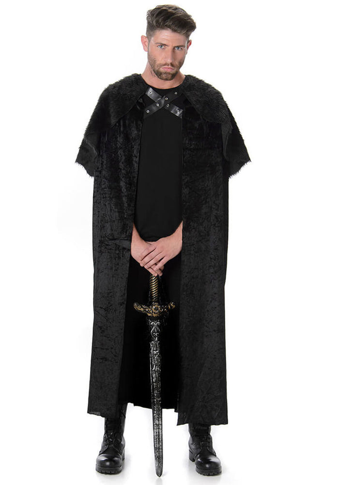 Medieval Black Fur Cape