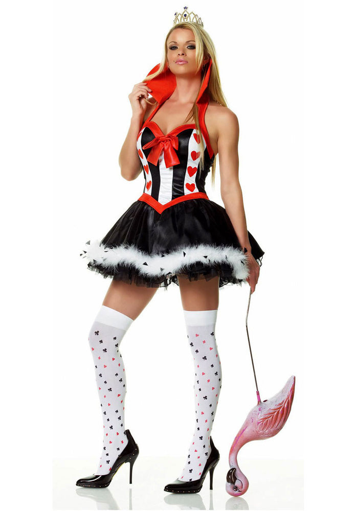 Queen of Hearts Fancy Dress Costume by Leg Avenue