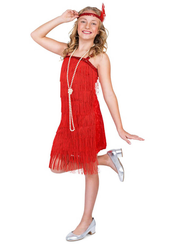 Flapper Girl Costume Red