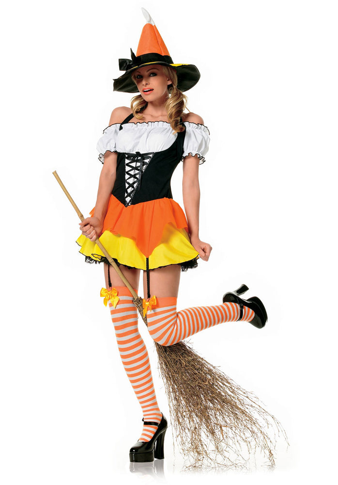 Kandy Korn Witch Costume - Halloween Fancy Dress
