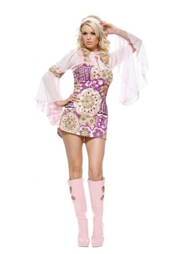 Flower Power Costume, Leg Avenue™ Sexy Retro Fancy Dress