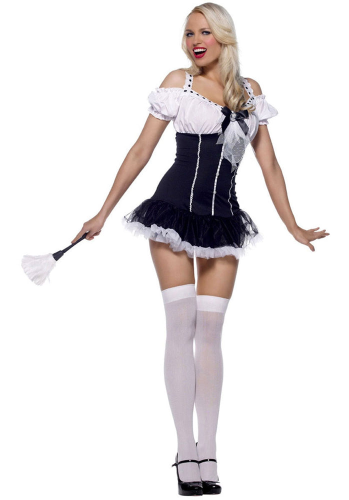 Saucy French Maid Costume by Leg Avenue