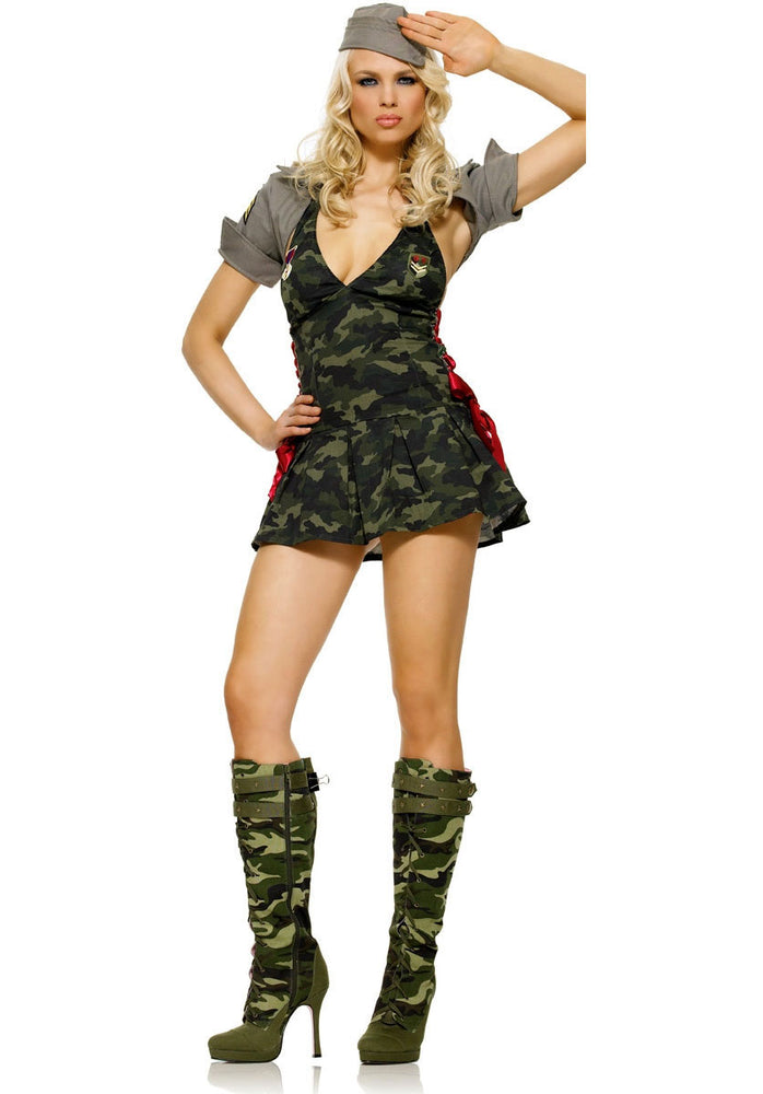 Army Cadet Costume, Leg Avenue Sexy Occupations Fancy Dress