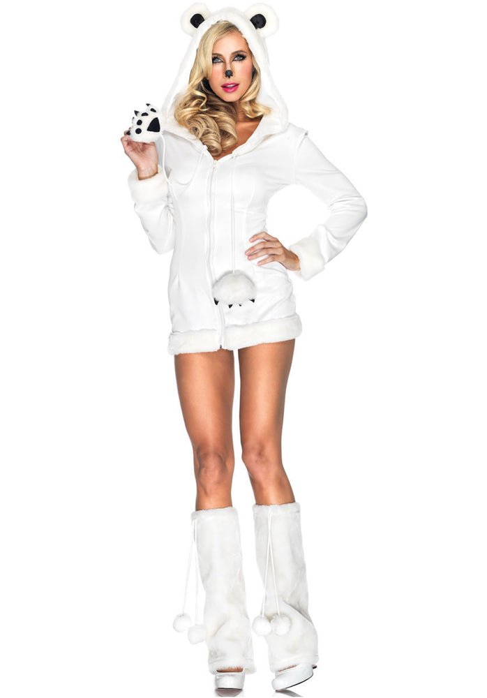 Snowy Polar Bear Costume, Leg Avenue