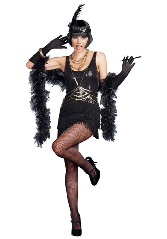 Aint Misbehavin Flapper Costume, Ladies Fancy Dress