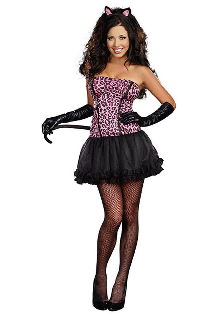 Kiss Me Kitty Costume, Sexy Kitty Costume