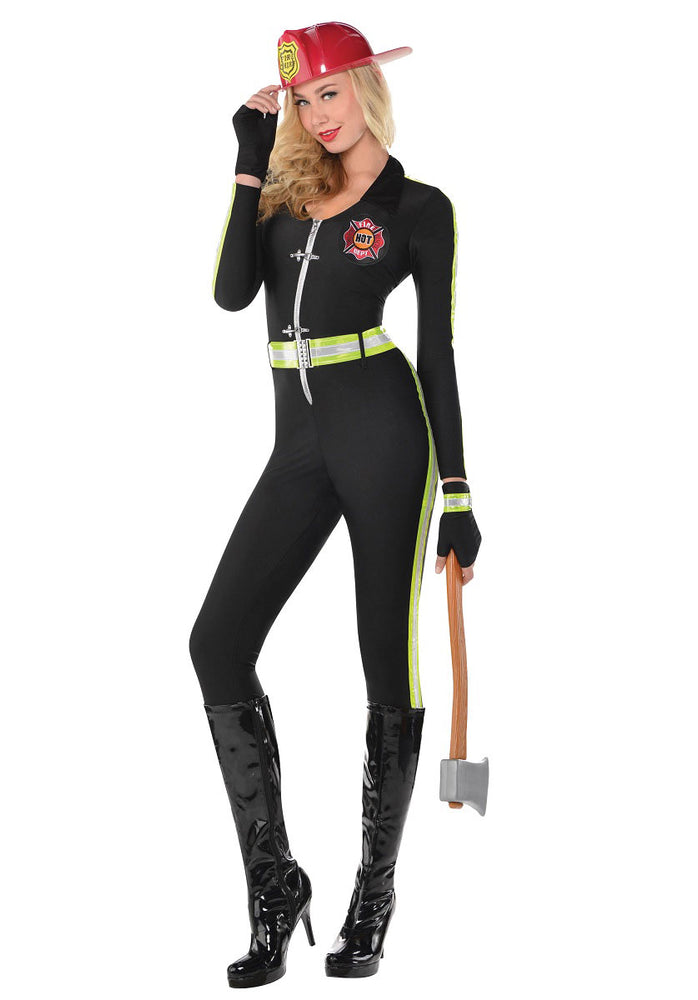 Fired Up Lady Firefighter