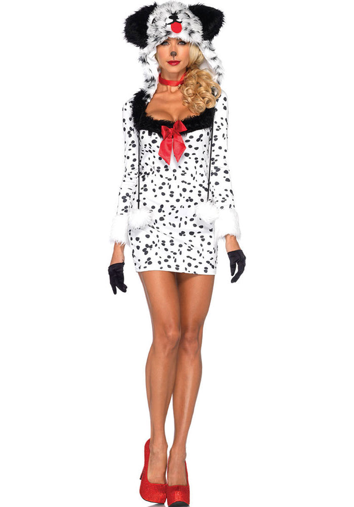 Dotty Dalmation Costume, Cartoon Fancy Dress Leg Avenue