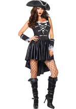 Captain Black Heart Costume, Leg Avenue Ladies Pirate Costume