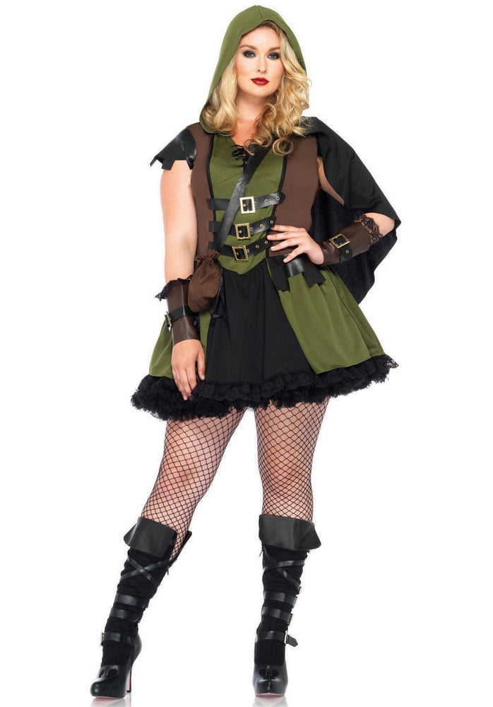 Darling Robin Hood Costume by Leg Avenue, Plus Size Fancy Dress