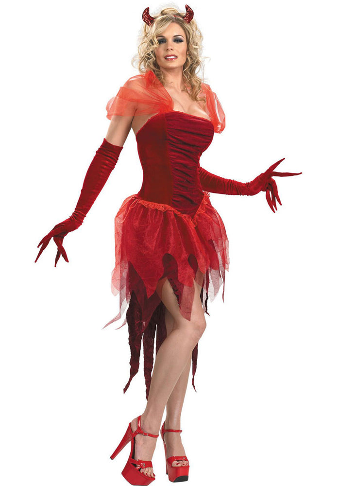 Demonia Red Velvery Costume