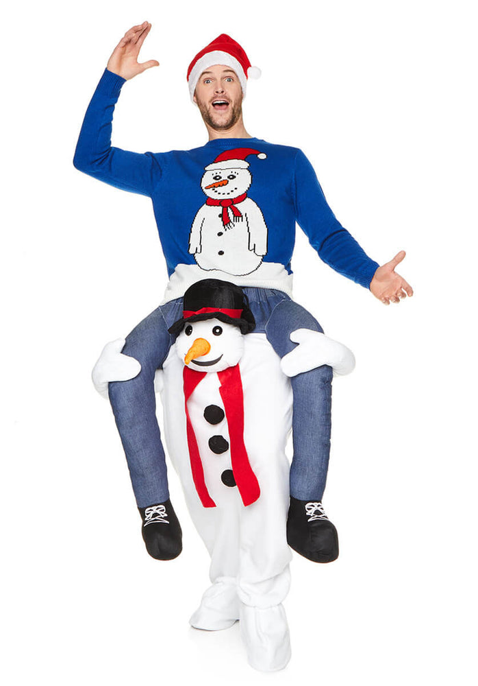 Ride on Snowman Costume