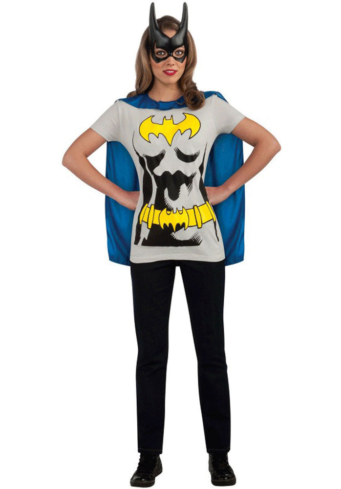 Batgirl T-Shirt Cape & Mask Costume Set