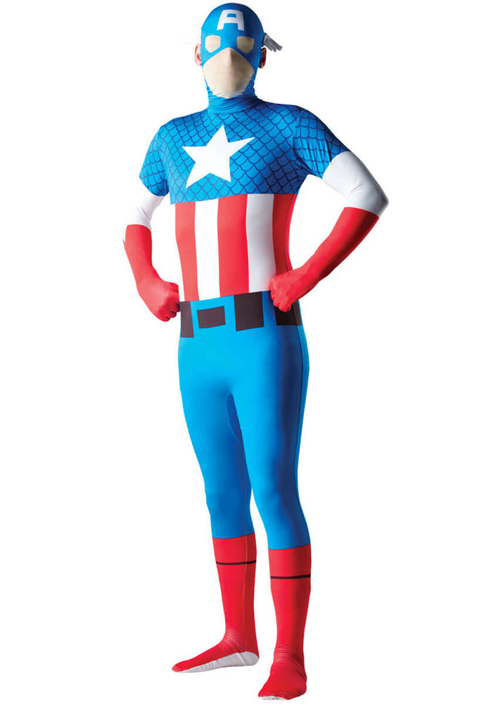 Captain America Second Skin Costume Marvel Fancy Dress