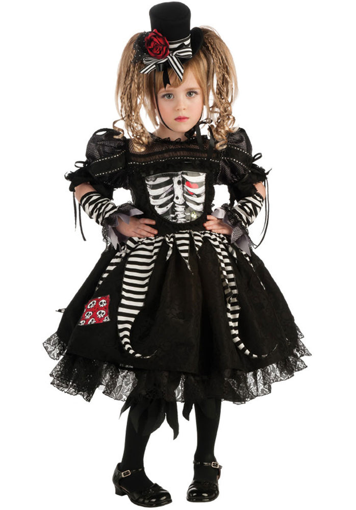 Girl's Bones Costume for Toddlers & Kids