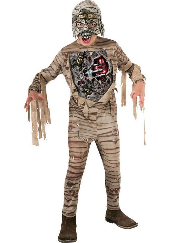 Child Mummy Costume Litghts up and Makes Sound Effects