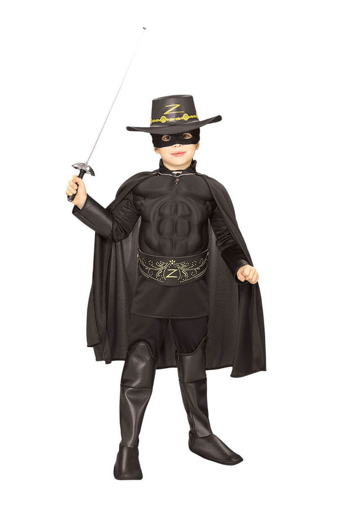 Deluxe Zorro Muscle Chest Costume, Child