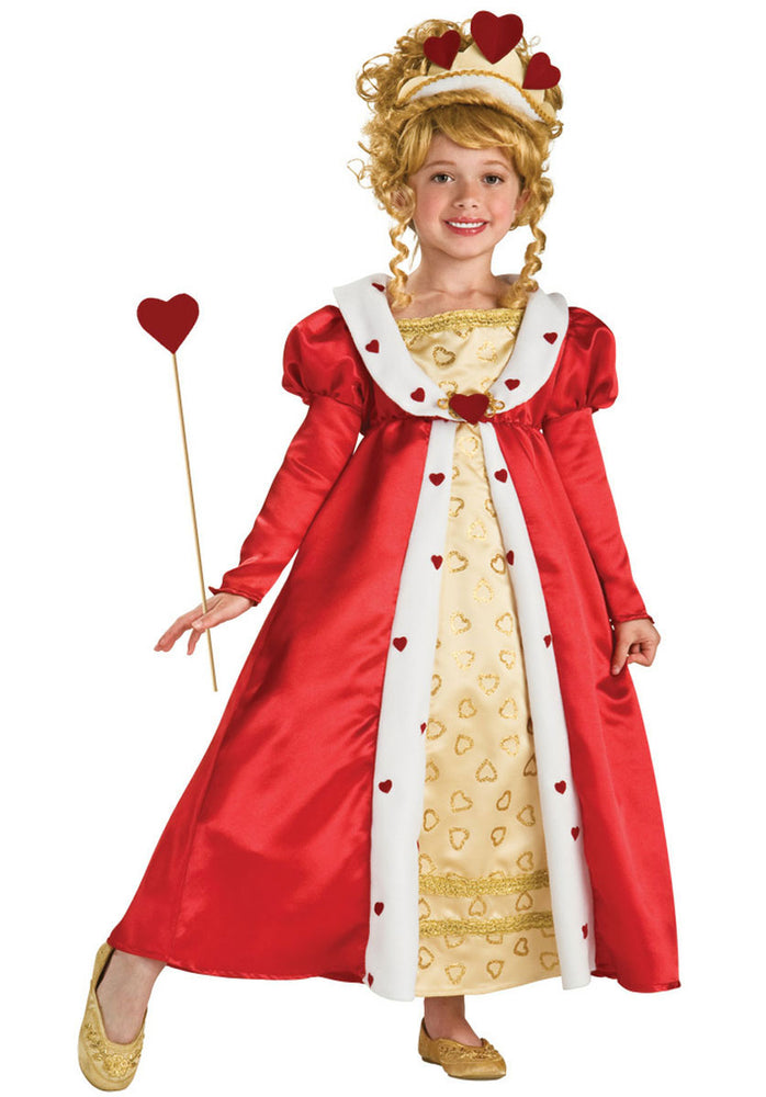 Red Heart Princess Costume, Children's Fancy Dress