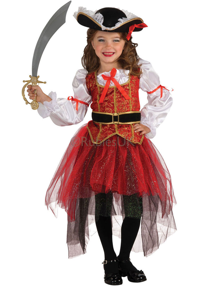 Kids Princess of the Seas Costume, Pirate Girl Fancy Dress