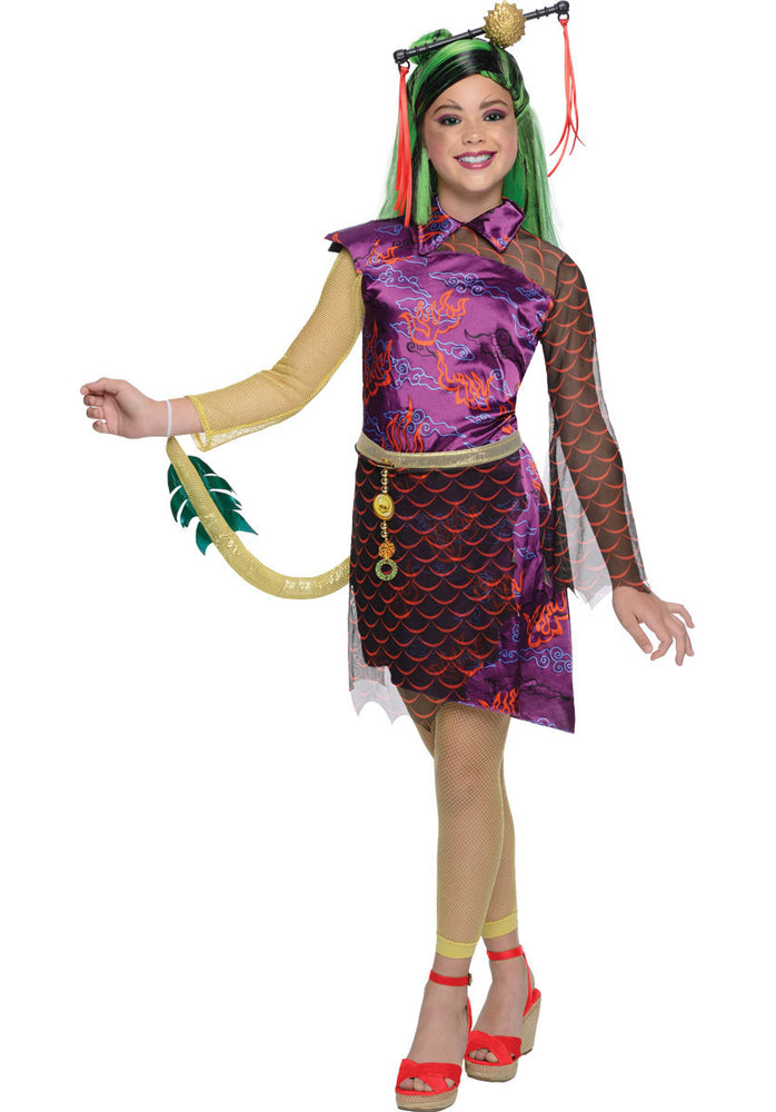 Monster High Jinafire Long Costume, Girls Fancy Dress