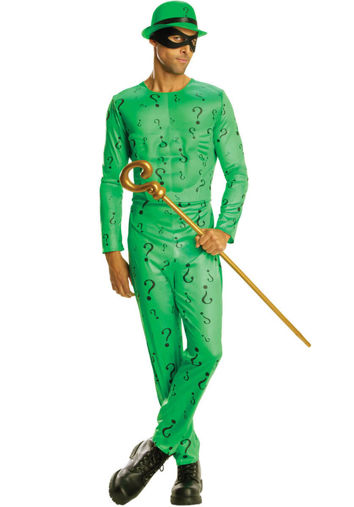 Adult Riddler Costume, Deluxe Fancy Dress
