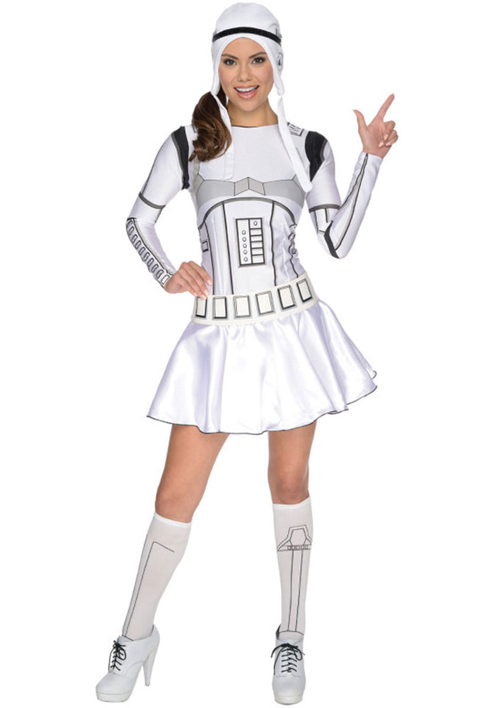 Female Stormtrooper Costume, Star Wars Fancy Dress for Women